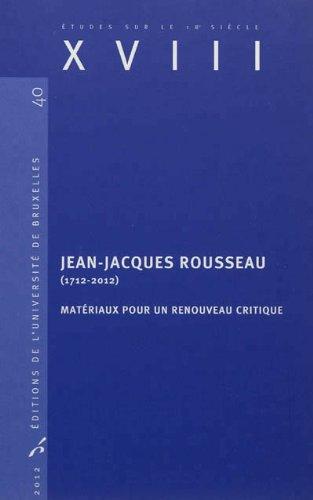 JEAN JACQUES ROUSSEAU 1712 2012: VAN STAEN