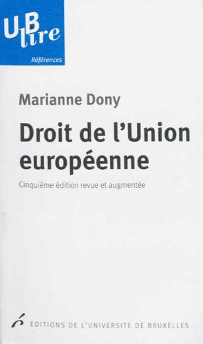 9782800415550: Droit de l'Union européenne (UB lire références)