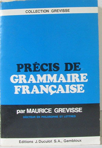 9782801100189: Precis de grammaire française