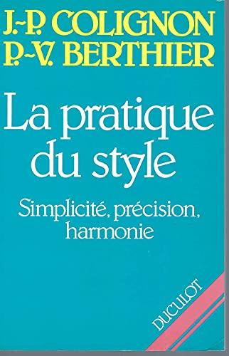 9782801105276: La pratique du style