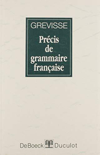 9782801109182: Precis De Grammaire