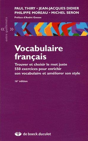 VOCABULAIRE FRANCAIS: THIRY 16E ED 2005