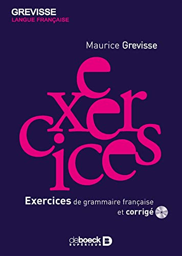 9782801116159: Exercices de grammaire francaise (French Edition)