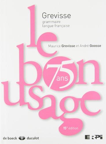 9782801116500: Bon Usage 15e Edit+ Scratch Book pour Erpi (le)