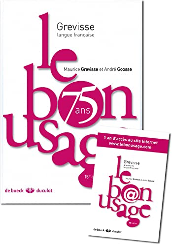 Le bon usage (French Edition) (2801116548) by [???]