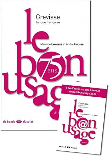 9782801116548: Le bon usage (French Edition)