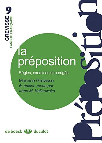 PREPOSITION -LA-: GREVISSE 6E ED 2013
