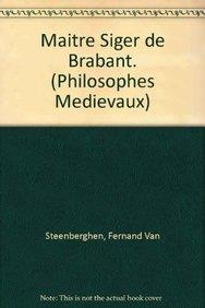 Maître Siger de Brabant: VanSteenberghenF.,