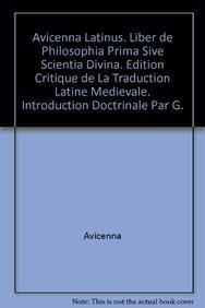 Liber De Philosophia Prima Sive Scientia Divina: S Van Riet