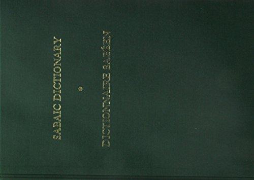 Sabaic Dictionary (English-French-Arabic). Dictionnaire sabeen (anglais-francais-arabe).: Beeston, ...