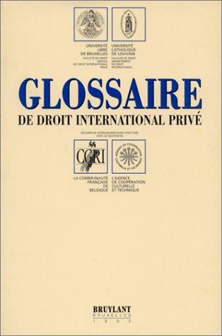 9782802705895: Glossaire de droit international privé