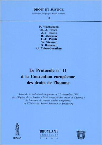 protocole n.11 c.e. droits de l'homme
