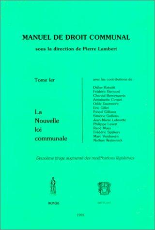 Manuel de droit communal, tome 1, 2e édition (2802711539) by [???]