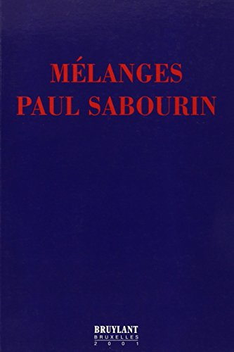 MELANGES PAUL SABOURIN