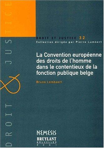 la convention europeenne des droits de l'homme dans le contentieux de la fonction publique ...