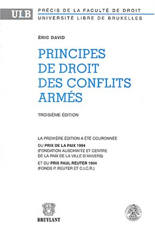 9782802716853: Principes de droit des conflits armés