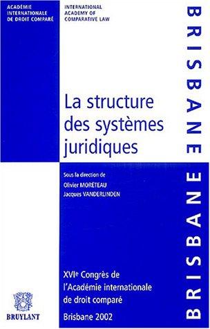 9782802717171: La structure des systèmes juridiques (French Edition)