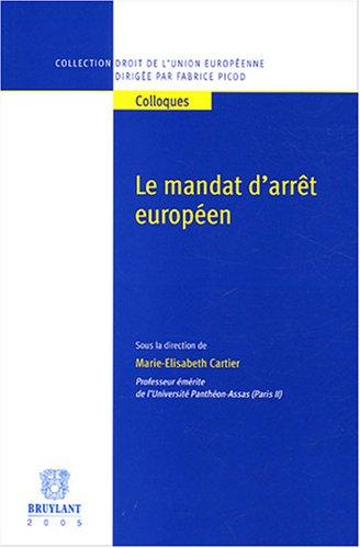 9782802720348: Le mandat d'arrêt européen