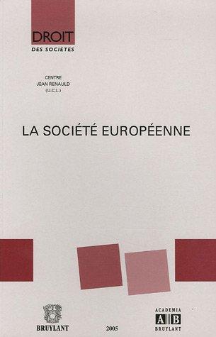 la societe europeenne: Jacques Malherbe