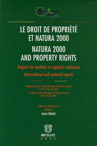 le droit de propriete et natura 2000: Paques, Michel