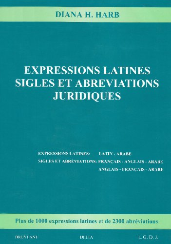 expressions latines, sigles et abréviations: Diana H. Harb