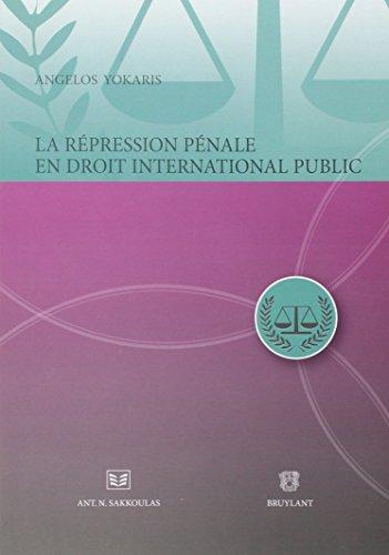 repression penale en droit international: Angelos Yokaris