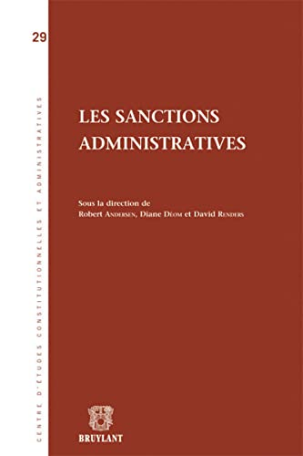 les sanction administratives: David Renders, Diane Déom, Olivier Bertin, Robert Andersen