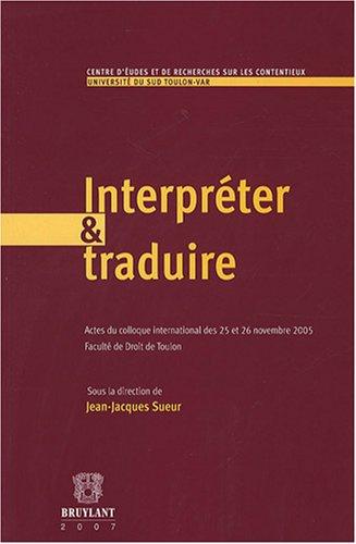 Interpreter & Traduire: Jean-Jacques Sueur
