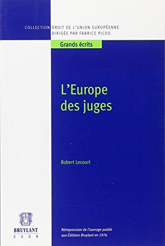 9782802724742: l'Europe des juges