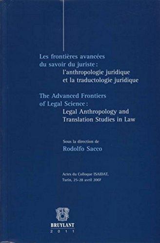 Les frontières avancées du savoir du juriste (French Edition): Rodolfo ...