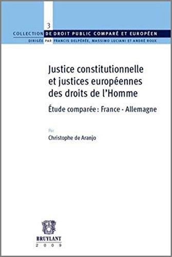 Justice constitutionnelle et justices européennes des droits de l'homme étude ...