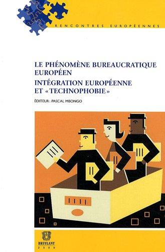 """""""le phénomène bureaucratique européen intégration europé..."""