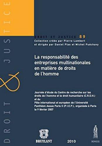 9782802728580: La responsabilité des entreprises multinationales en matière de droits de l'homme (French Edition)