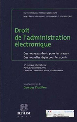 9782802728764: droit de l'administration électronique