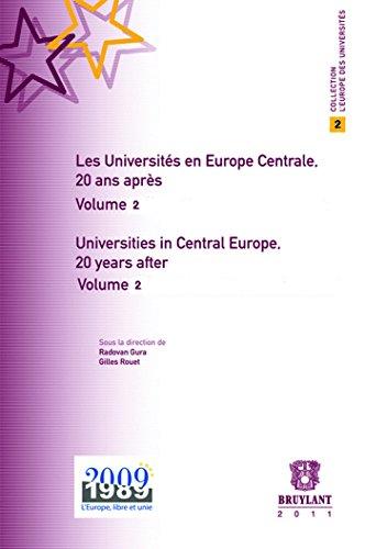 Les Universités en Europe centrale, 20 ans: Côme, Thierry/ Meskova,