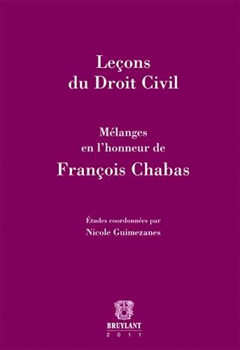 leçons du droit civil, mélanges en l'honneur de François Chabas