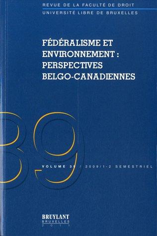 """""""fédéralisme et environnement ; perspectives belgo-canadiennes"""": Hélène ..."""
