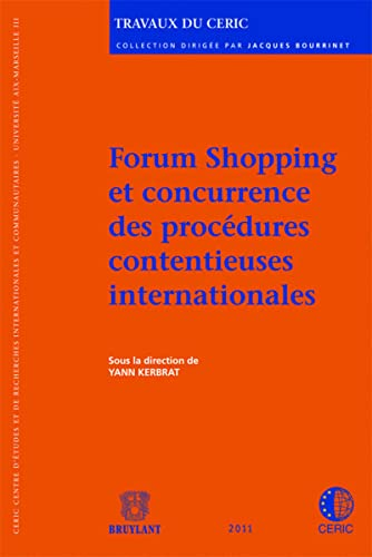 9782802733485: forum shopping et concurrence des procedures contentieuses internationales