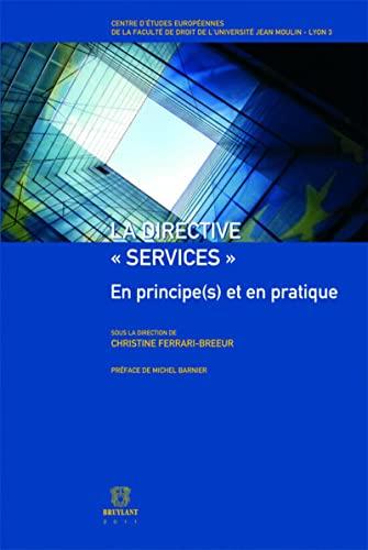 la directive services: Barni, Christine Ferrari-Breeur, Michel Barnier