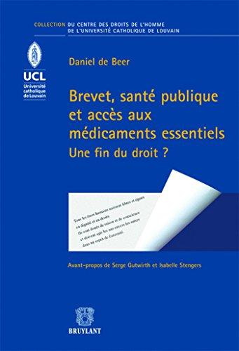 BREVET SANTE PUBLIQUE ET ACCES AUX MEDIC: DE BEER DANIEL