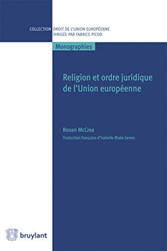 RELIGION ET ORDRE PUBLIC DE L UNION EURO: MCCREA RONAN