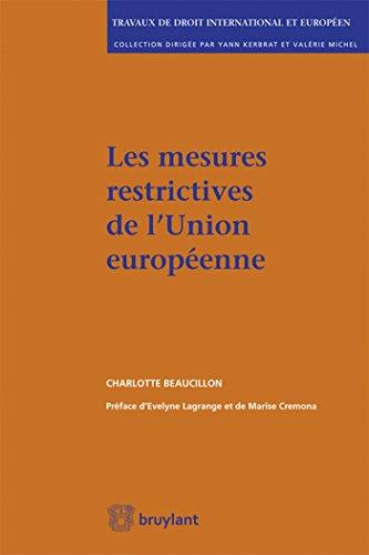 9782802742296: Les mesures restrictives de l'Union Européenne