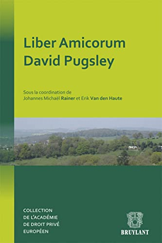 9782802742692: Liber Amicorum David Pugsley