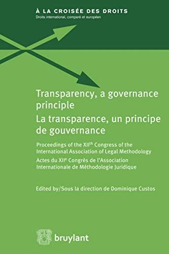 La transparence, principe de gouvernance