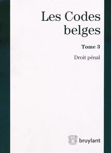 9782802747352: Droit pénal (Les codes belges)