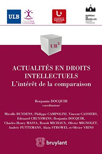 Actualités en droits intellectuels: Benjamin Docquir