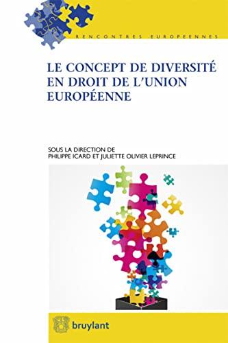 9782802751878: Le concept de diversité en droit de l'Union européenne