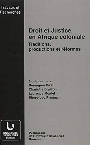 9782802802167: Droit et justice en Afrique coloniale