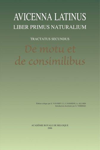 Avicenna Latinus. Liber primus naturalium. Tractatus secundus.: Janssens, J., Allard,