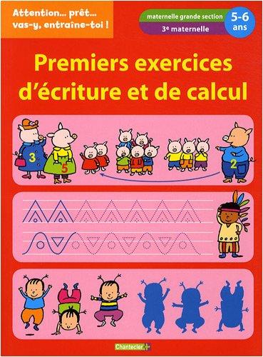 9782803451241: Premiers exercices d'�criture et de calcul : 5-6 ans